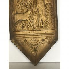 Art Deco Hand Carved Wall Sculpture - 1370379