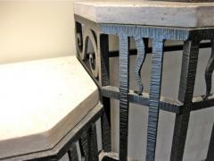 Art Deco Iron Console and Mirror - 293552