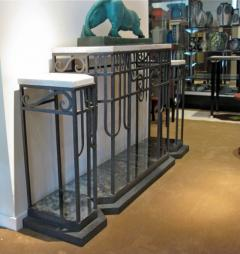 Art Deco Iron Console and Mirror - 293555