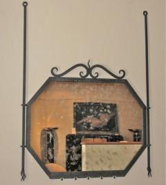 Art Deco Iron Console and Mirror - 293557