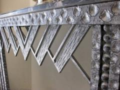 Art Deco Iron Marble Console With Matching Mirror - 1387169
