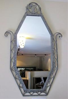 Art Deco Iron Marble Console With Matching Mirror - 1387172
