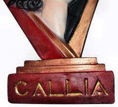 Art Deco Large Advertising Stand Circa 1930s - 1028121