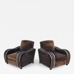 Art Deco Large Club Chairs - 1757056
