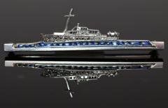 Art Deco Luxury Yacht Brooch - 314733