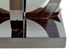 Art Deco Macassar Ebony Side Table with Onyx Top - 1219137