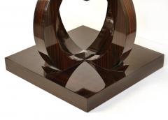 Art Deco Macassar Ebony Side Table with Onyx Top - 1219138