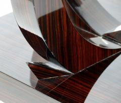 Art Deco Macassar Ebony Side Table with Onyx Top - 1219140