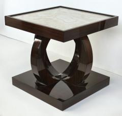 Art Deco Macassar Ebony Side Table with Onyx Top - 1219141
