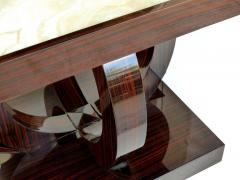 Art Deco Macassar Ebony Side Table with Onyx Top - 1219143