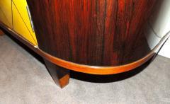 Art Deco Macassar and Pergamino Bar or Buffet Cabinet - 1387131