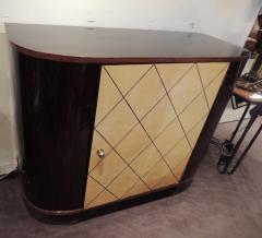 Art Deco Macassar and Pergamino Bar or Buffet Cabinet - 1387132