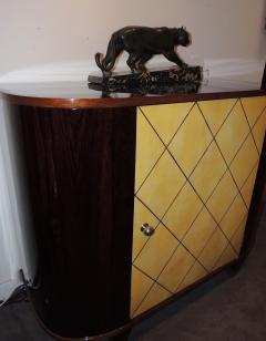 Art Deco Macassar and Pergamino Bar or Buffet Cabinet - 1387133