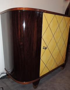 Art Deco Macassar and Pergamino Bar or Buffet Cabinet - 1387135