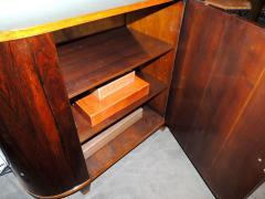 Art Deco Macassar and Pergamino Bar or Buffet Cabinet - 1387138
