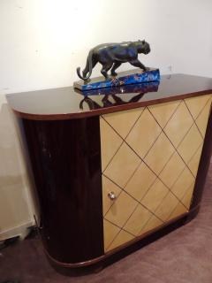 Art Deco Macassar and Pergamino Bar or Buffet Cabinet - 1387139