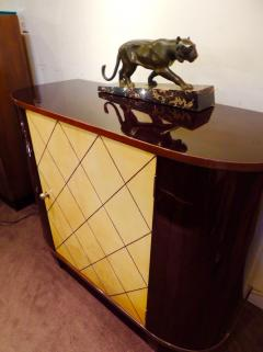 Art Deco Macassar and Pergamino Bar or Buffet Cabinet - 1387141