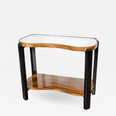 Art Deco Machine Age Side Table with Streamline Reeded Leg Design - 1523041