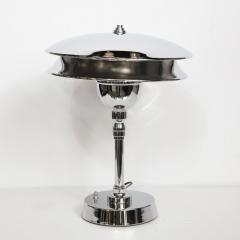 Art Deco Machine Age Skyscraper Style Polished Chrome Table Lamp - 1733339
