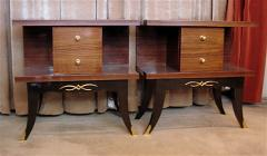 Art Deco Mahogany Night Stands Pair - 118180