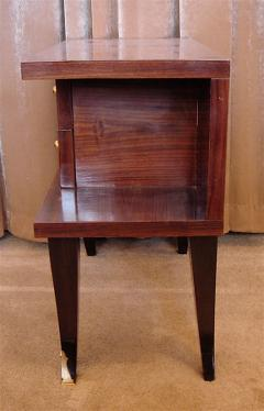 Art Deco Mahogany Night Stands Pair - 118181