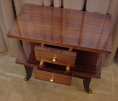 Art Deco Mahogany Night Stands Pair - 118182