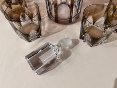 Art Deco Mid Century Whiskey Set with Decanter and Six Glasses - 1807076