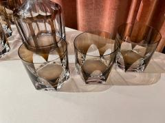 Art Deco Mid Century Whiskey Set with Decanter and Six Glasses - 1807077