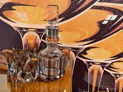 Art Deco Mid Century Whiskey Set with Decanter and Six Glasses - 1807080