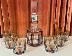 Art Deco Mid Century Whiskey Set with Decanter and Six Glasses - 1807082