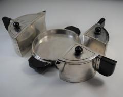 Art Deco Modern Avant Garde Tea Set by Wilcox Jean Theobald Virginia Hamill - 1154866