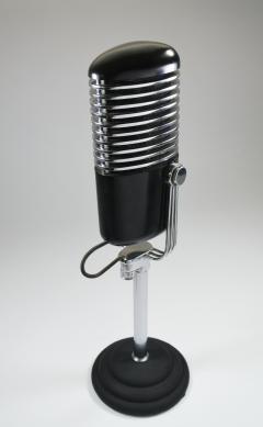Art Deco Modernist Microphone Iconic - 385212