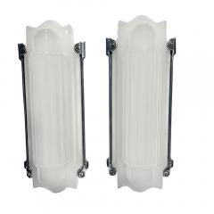 Art Deco Molded Glass Wall Sconces - 1490767
