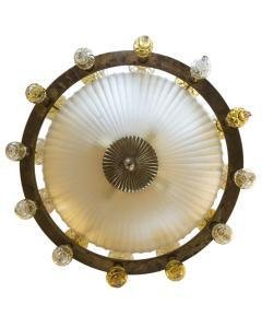 Art Deco Murano Chandelier Italy 1950 - 566770