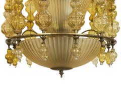 Art Deco Murano Chandelier Italy 1950 - 566771