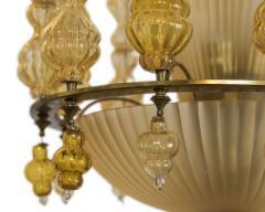 Art Deco Murano Chandelier Italy 1950 - 566772