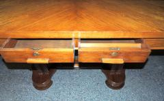 Art Deco Oak Desk Library Table Newly Restored - 293578