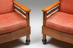 Art Deco Pair of Club Chairs Europe 1960s - 1566206