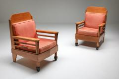 Art Deco Pair of Club Chairs Europe 1960s - 1566212