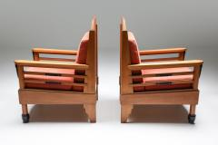 Art Deco Pair of Club Chairs Europe 1960s - 1566213