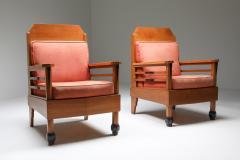Art Deco Pair of Club Chairs Europe 1960s - 1566215