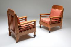 Art Deco Pair of Club Chairs Europe 1960s - 1566216