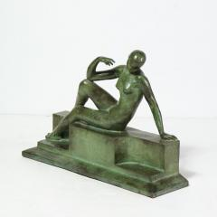 Art Deco Patinated Figurative Bronze Sculpture Signed Marguerite Anne de Blonay - 1949958