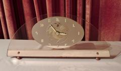 Art Deco Peach Mirrored Electric Clock - 1601019