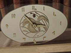 Art Deco Peach Mirrored Electric Clock - 1601021