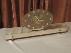 Art Deco Peach Mirrored Electric Clock - 1601024