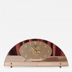 Art Deco Peach Mirrored Electric Clock - 1601777