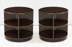 Art Deco Revolving Bookcase Side Tables - 1195670