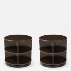 Art Deco Revolving Bookcase Side Tables - 1196229