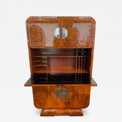 Art Deco Secretaire Walnut Veneer France circa 1930 - 1331718